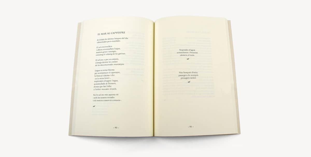 márgenes de un libro de poesía