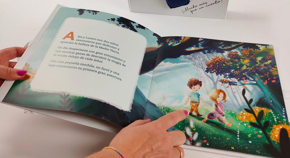 Ilustración de Alex y Lucero