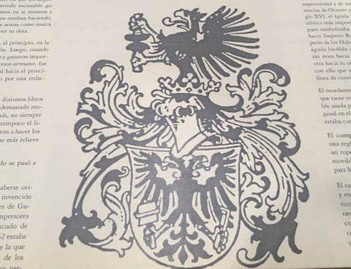 El origen y significado del escudo de los impresores