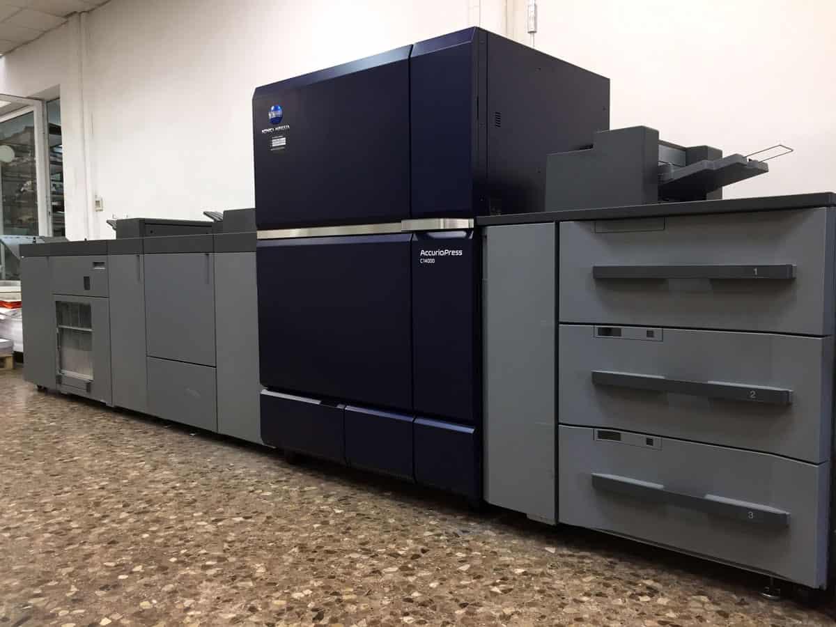 impresora digital Konica c14000