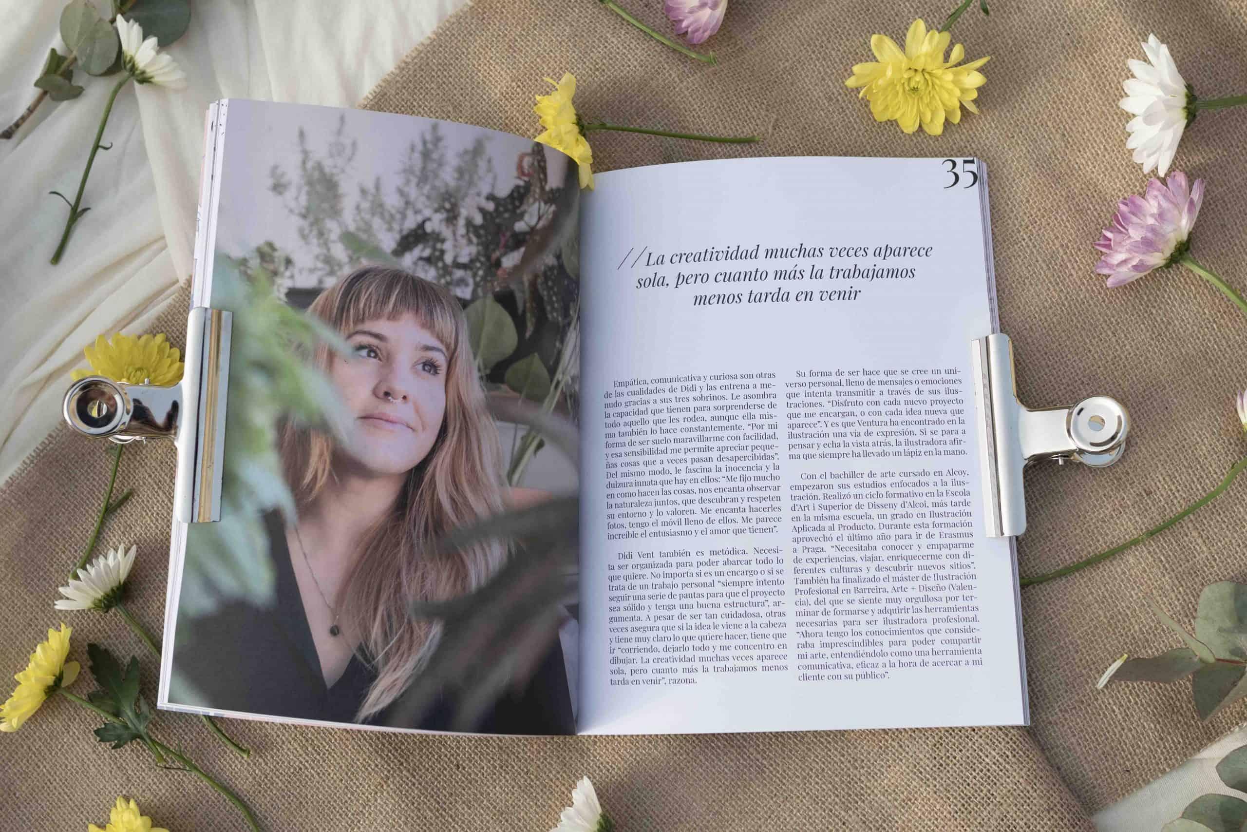 pagina interior de la revista mulier