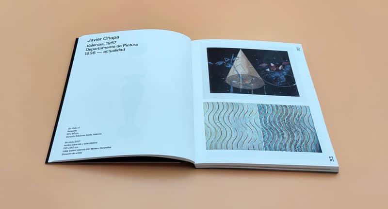 doble pagina del catalogo la exposicion del ivam a la upv