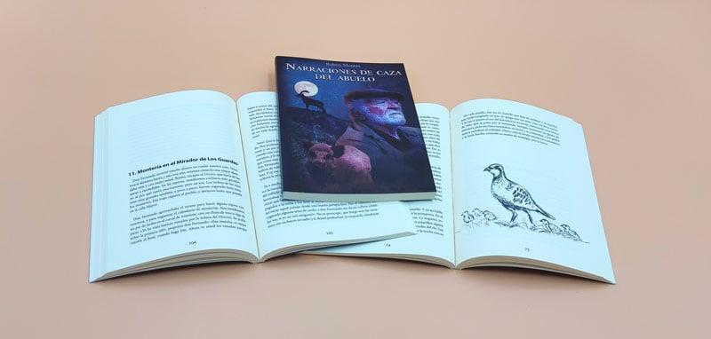 interior del libro narraciones de caza del abuelo