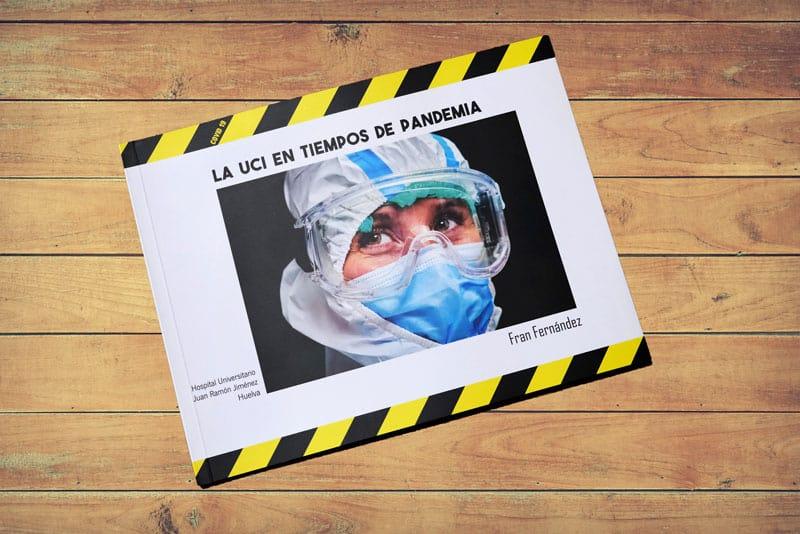 Portada del libro de fotografía La UCI en tiempos de pandemia