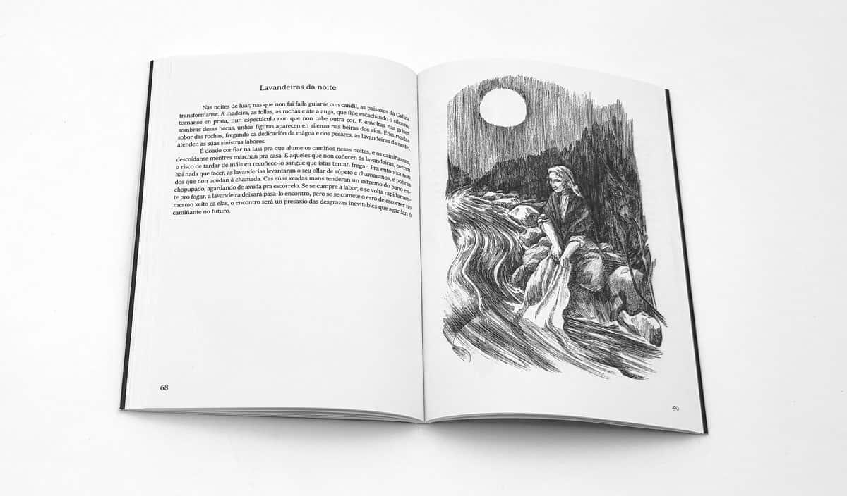 Ilustración de las Lavandeiras da noite