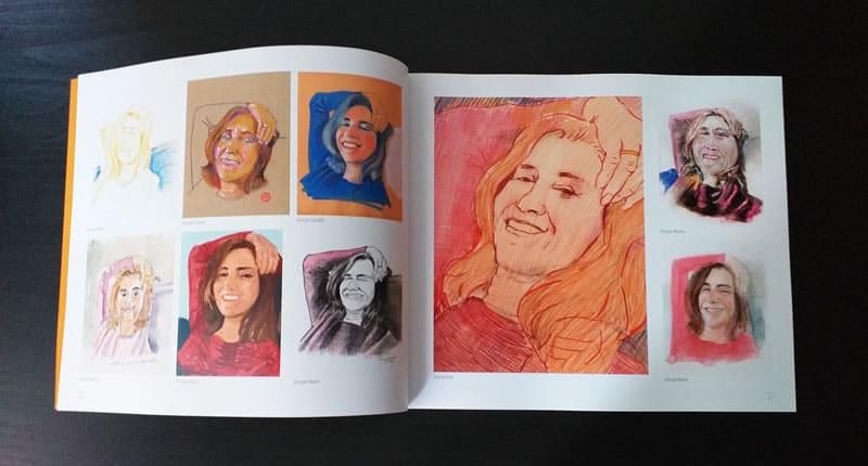 doble página interior del libro 1