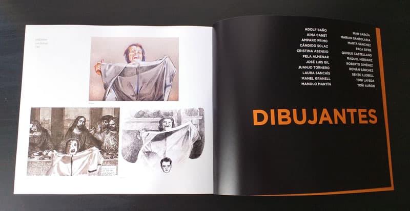 Dibujantes de cronica ilustrada de un confinamiento
